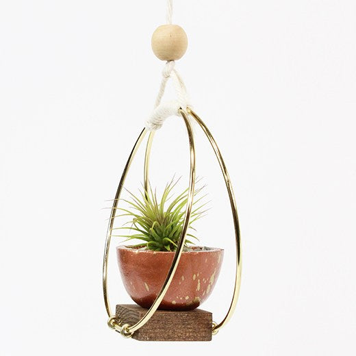"Braid & Wood Design Studio - 6"" Plant Hanger - Fancy That"