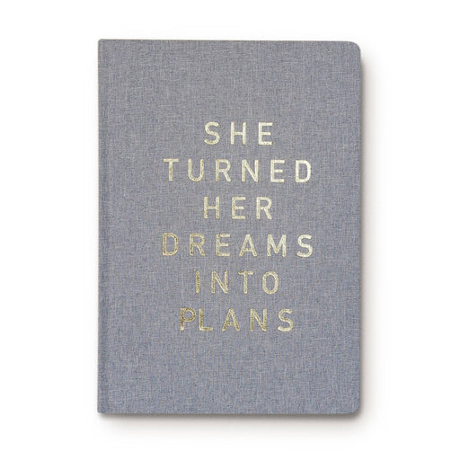 She Turned Her Dreams Into Plans Journal Fabric Journal - Fancy That