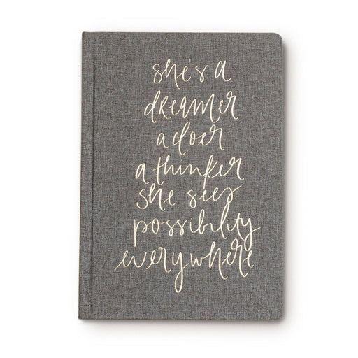 She's a Dreamer Fabric Journal - Fancy That