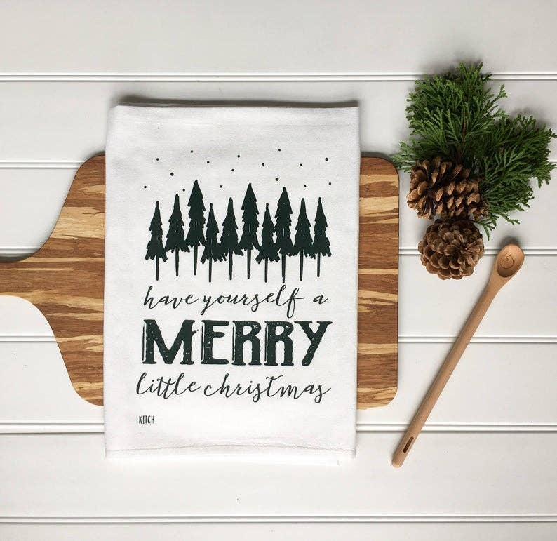 Merry Little Christmas Tea Towel - Fancy That