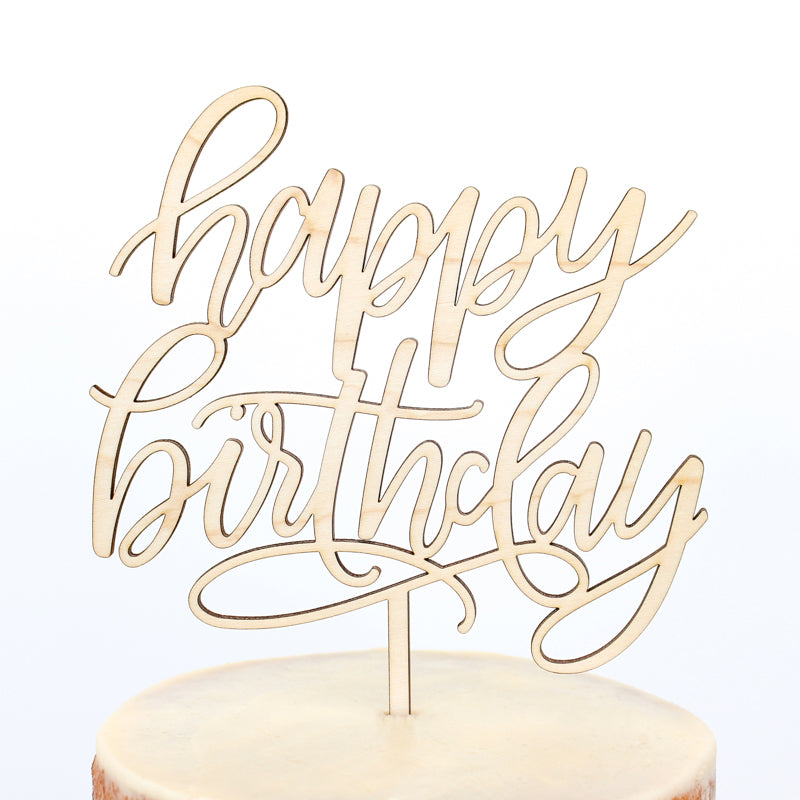 Happy Birthday Script Cake Topper - Fancy That