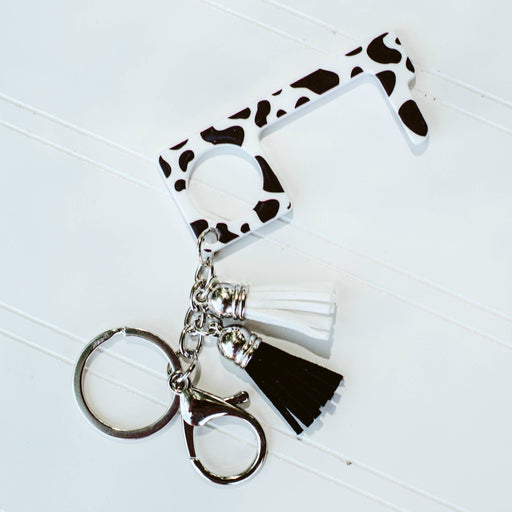 Cow Print No Touch Key Ring - Fancy That