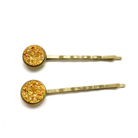 Gold Druzy Bobby Pins - Fancy That