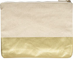 Gold Color Block Pouch