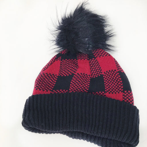Buffalo Plaid Pom Beanie - Fancy That