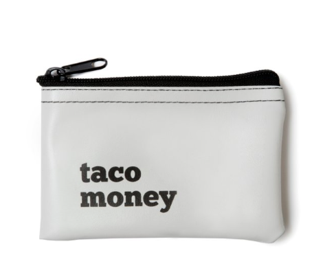 Taco Money Vinyl Pouch - Fancy That