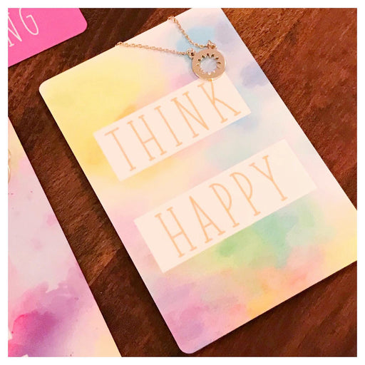 Think Happy Necklace Card - Fancy That