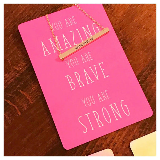 You are Amazing, Brave, Strong Necklace Card - Fancy That
