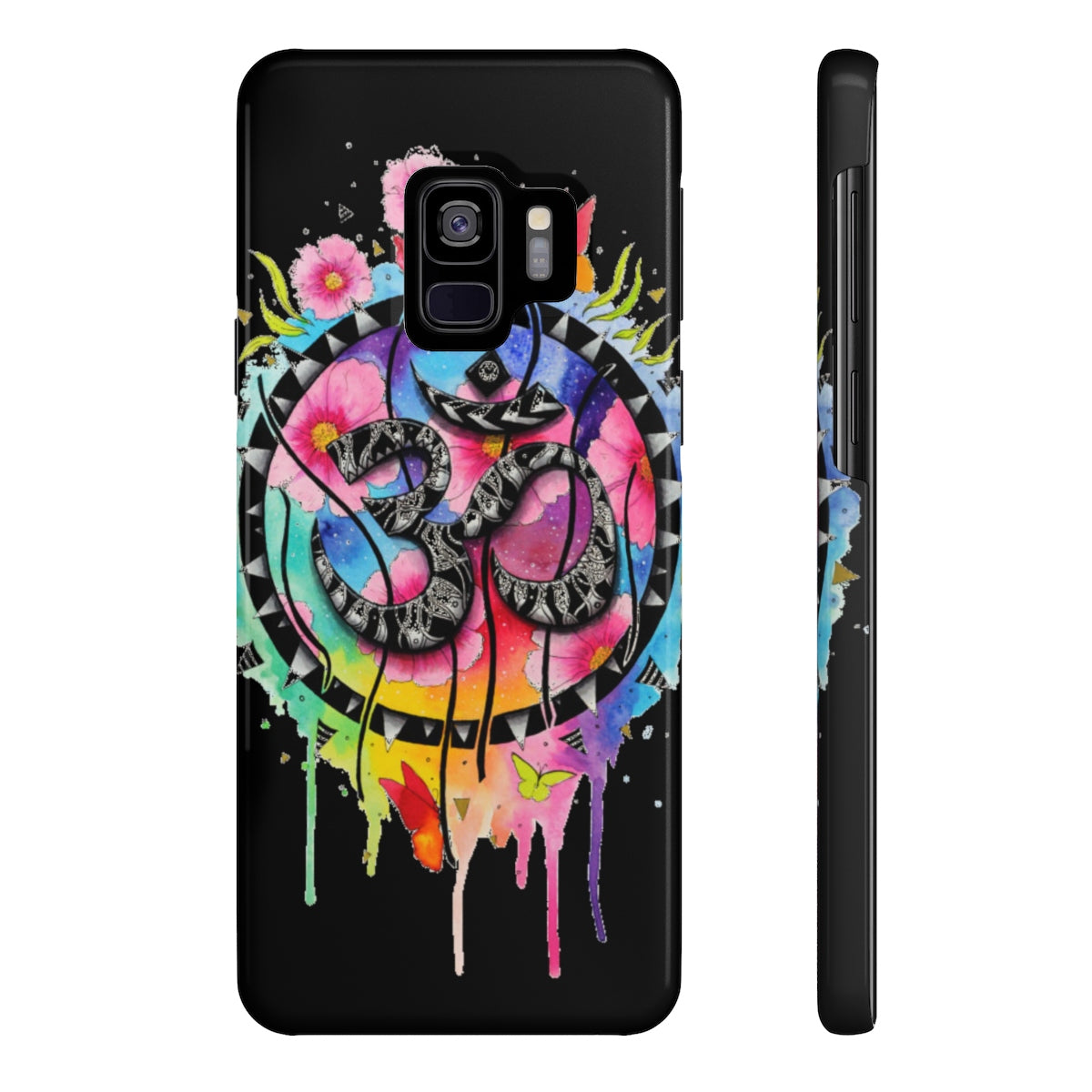 Abstract Om Symbol Mate Slim Phone Case Stone In The Sky