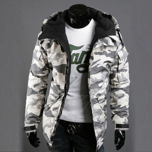 2018 New Mens Camouflage Army Military Coat