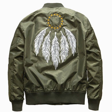 Feathers Embroidery Jacket