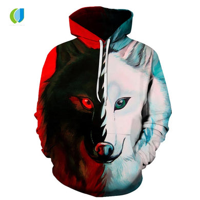 2018 Wild Fashion 3D long-sleeved hoodie. 12 Designs available
