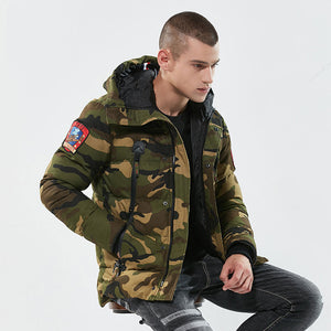 2018 Winter Hooded Thick Camouflage Military Down Jacket