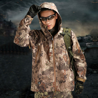 TAD Shark Skin Hard Shell Pressure Rubber Camouflage Waterproof Army Tactical Jacket