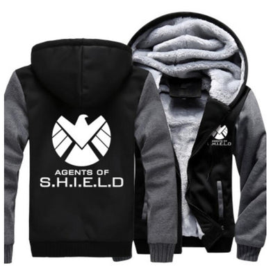 Agents of Shield S.H.I.E.L.D. Jacket Sweatshirts Thicken Hoodie Clothing Casual