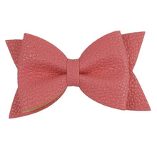 "Medium 3.5"" Faux Leather Bows"