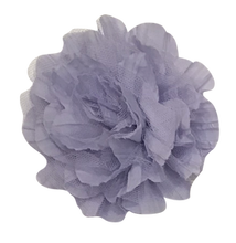 "XL 5"" Crinkled Chiffon & Mesh Flowers"