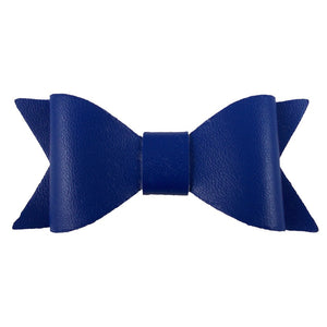 "Small 3"" Faux Leather Bows"