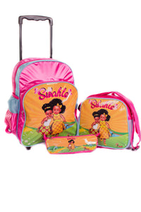 3 Piece Sunshine School Trolley Bag Set