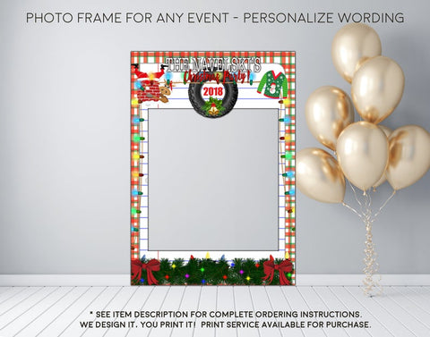 Ugly Sweater Christmas Party - Photo Prop Frame Sign - Digital File (frame-christmasfun)