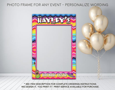 Fiesta Birthday Party - Photo Prop Frame Sign - Digital File  (Frame-fiestabday)