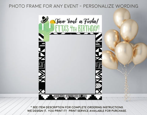 Fiesta Taco 'bout a Fiesta Personalized Photo Prop Frame  (Frame-CactusTaco)