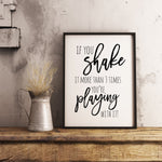 If you shake it more than 3 times sign Farmhouse Funny Bathroom Printable Instant Download
