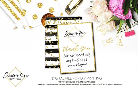 Custom Business Thank You Card with Logo - Digital File