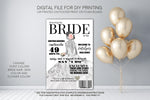 Bride Magazine Bridal Shower Welcome Sign - Party Decorations  - Digital File