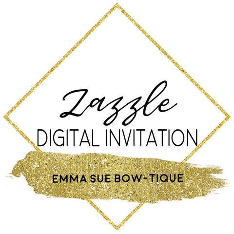 Zazzle Invitation Design - Digital File