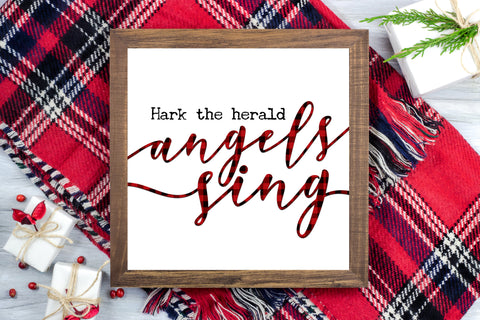 Hark the herald Angels Sing - Jesus Christmas Farmhouse Printable Sign - Digital File