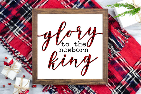 Glory to the newborn King - Jesus Christmas Farmhouse Printable Sign - Digital File