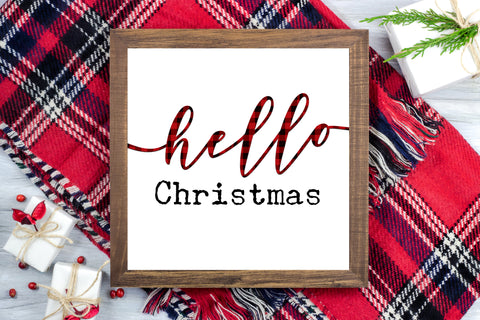 Hello Christmas - Christmas Printable Sign Farmhouse Style  - Digital File