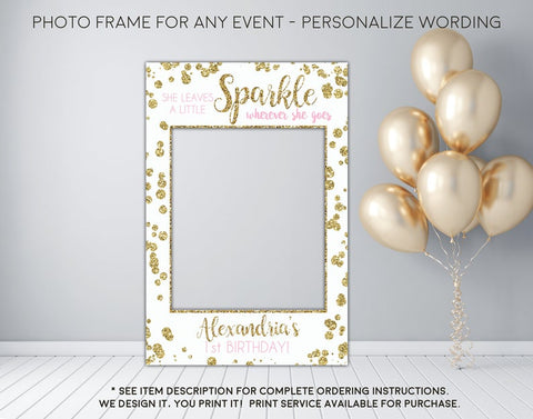 She leaves a little sparkle wherever she goes - Photo Prop Frame Sign - Digital File