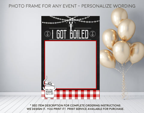 Crawfish Boil Party - Bridal Couples Shower, Birthday, or Any Event - Photo Prop Frame Sign - Digital File