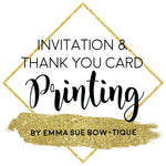 Invitation and Thank you Card Printing