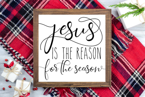 Jesus is the Reason for the Season -  Christmas Printable Sign Farmhouse Style  - Digital File
