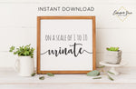 On a Scale of 1 to 10 Urinate - Bathroom Farmhouse Bathroom Art Digital Printable Instant Download