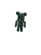 Load image into Gallery viewer, Bape green & purple camo Bearbrick 100% - MrBreckz