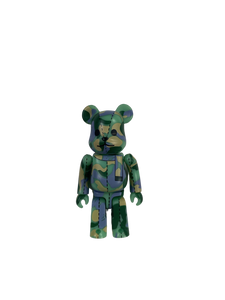 Bape green & purple camo Bearbrick 100% - MrBreckz