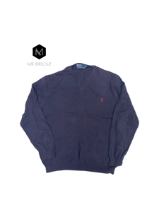 Authentic Ralph Lauren navy jumper - MrBreckz