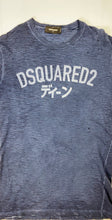 Load image into Gallery viewer, Dsquared2 navy distressed tee - MrBreckz