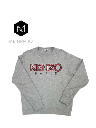Authentic kenzo Paris grey jumper - MrBreckz