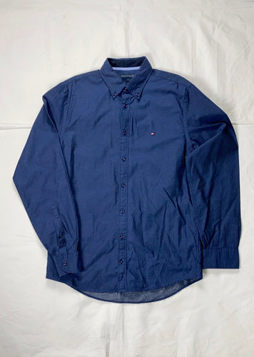 Tommy Hilfiger navy regular fitted shirt - MrBreckz
