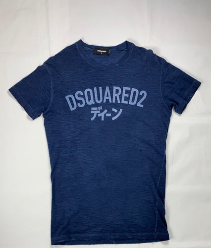 Dsquared2 navy distressed tee - MrBreckz