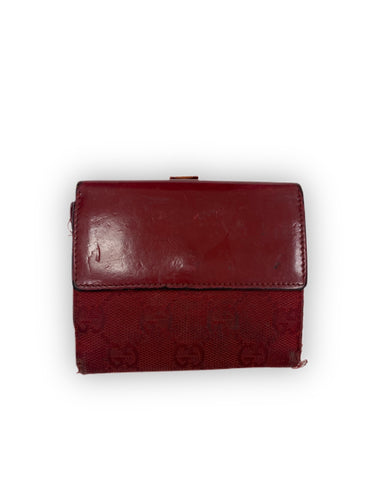 Authentic Gucci vintage red GG mono wallet - MrBreckz