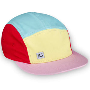 Pastel Colourblock Kids 5-Panel Hat