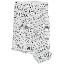 White Mudcloth Muslin Swaddle