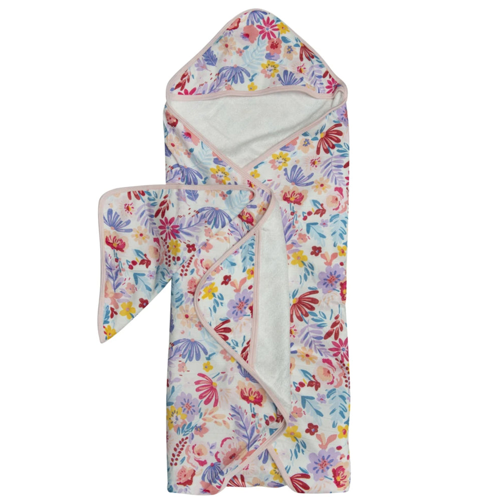 Hooded Towel Set - Light Field Flowers