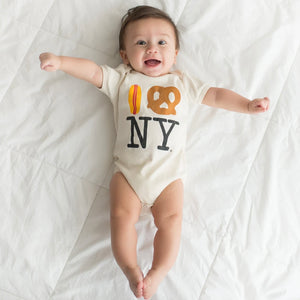 Hot Dog Pretzel NY Onesie